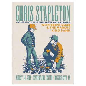 Chris Stapleton Show Poster – Bossier City, LA 8/24/19