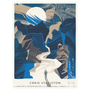 Chris Stapleton Show Poster – Erie, PA 8/15/19