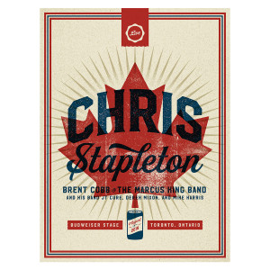 Chris Stapleton Show Poster – Toronto, ON 8/17/19