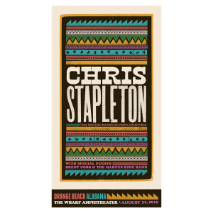 Chris Stapleton Show Poster – Orange Beach, AL 8/31/2019