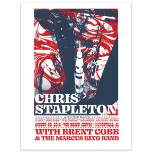 Chris Stapleton Show Poster – Hunstville, AL 8/29/19