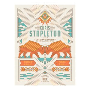 Chris Stapleton Show Poster – Oklahoma City, OK 10/4/19