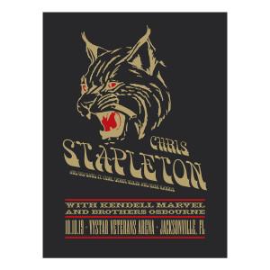Chris Stapleton Show Poster – Jacksonville, FL 10/10/19