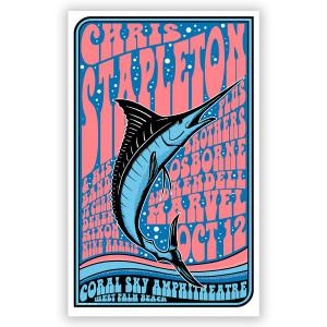 Chris Stapleton Show Poster – West Palm Beach, FL 10/12/19
