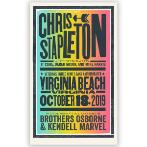 Chris Stapleton Show Poster – Virginia Beach, VA 10/18/19