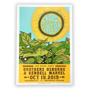 Chris Stapleton Show Poster – Greensboro, NC 10/19/19
