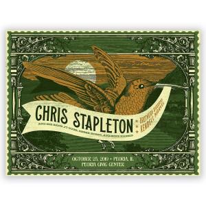 Chris Stapleton Show Poster – Peoria, IL 10/25/19