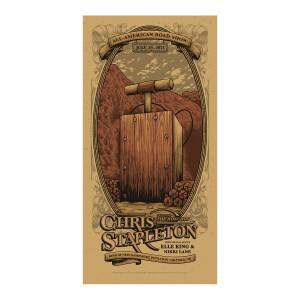 Chris Stapleton Show Poster   Gilford, NH Night 2   07/29/21