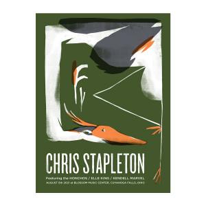 Chris Stapleton Show Poster   Cuyahoga Falls, OH   08/05/21