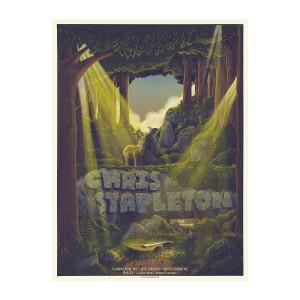 Chris Stapleton Show Poster   Clarkston, MI Night 1   08/06/21