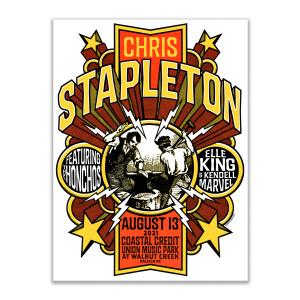 Chris Stapleton Show Poster   Raleigh, NC   08/13/21