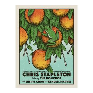 Chris Stapleton Show Poster   Alpharetta, GA   08/27/21