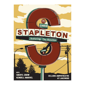 Chris Stapleton Show Poster   Atlanta, GA   08/28/21