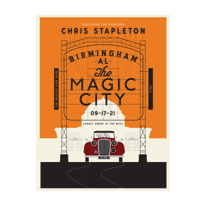 Chris Stapleton Show Poster – Birmingham, AL – 09/17/21