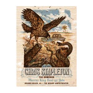 Chris Stapleton Show Poster – Orange Beach, AL – 09/18/21