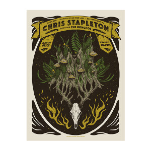 Chris Stapleton Show Poster   Burgettstown, PA   09/24/21