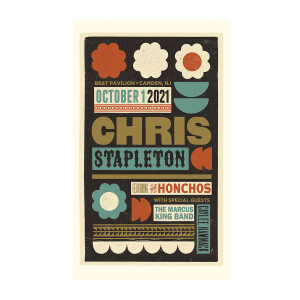 Chris Stapleton Show Poster   Camden, NJ   10/01/21