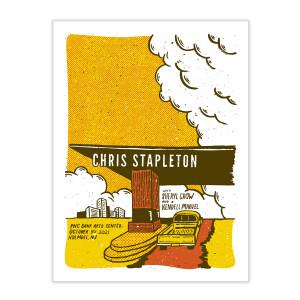 Chris Stapleton Show Poster – Holmdel, NJ – 10/09/21