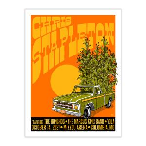 Chris Stapleton Show Poster – Columbia, MO – 10/14/21