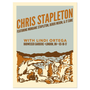 Chris Stapleton Show Poster – London, Ontario 3/18/17