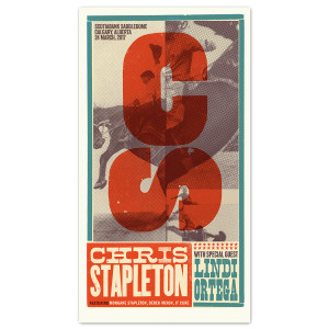 Chris Stapleton Show Poster – Calgary, Alberta 3/24/17
