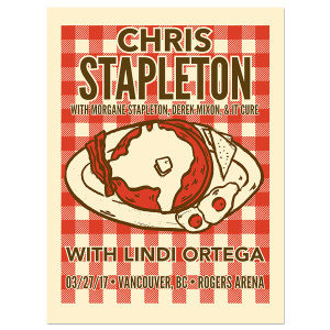 Chris Stapleton Show Poster – Vancouver, British Columbia 3/27/17