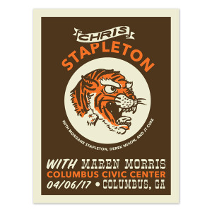 Chris Stapleton Show Poster – Columbus, GA 4/6/17