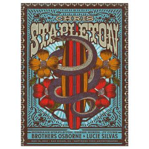 Signed Chris Stapleton Show Poster – Chula Vista, CA 5/18/17