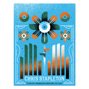 Chris Stapleton Show Poster – Holmdel, NJ 7/20/17