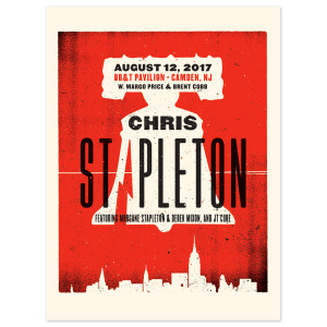 Chris Stapleton Show Poster – Camden, NJ 8/12/17