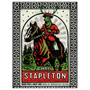 Chris Stapleton Show Poster – Toronto, ON 8/17/17