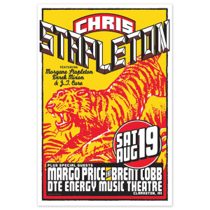 Chris Stapleton Show Poster – Clarkston, MI 8/19/17
