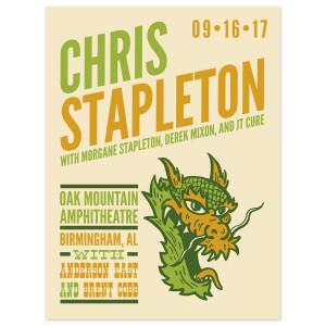 Chris Stapleton Show Poster – Pelham, AL 9/16/17