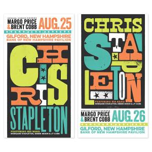 Chris Stapleton Show Poster – Gilford, NH Night 2 8/26/17