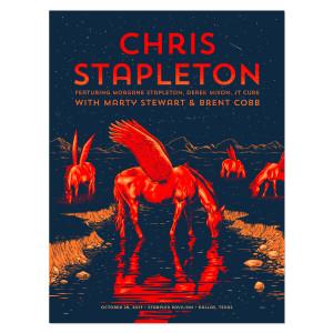 Chris Stapleton Show Poster – Dallas, TX 10/28/17