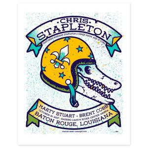 Chris Stapleton Show Poster – Baton Rouge, LA 10/19/17