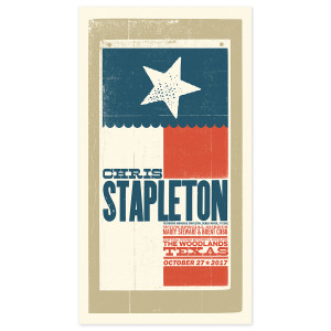Chris Stapleton Show Poster – The Woodlands, TX 10/27/17