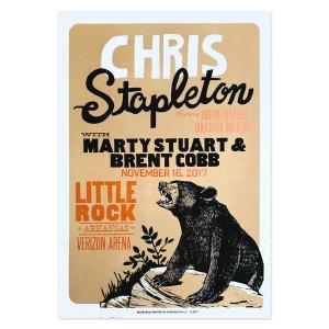 Chris Stapleton Show Poster – Little Rock, AR 11/16/17