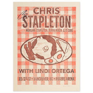 Signed Chris Stapleton Show Poster – Vancouver, British Columbia 3/27/17