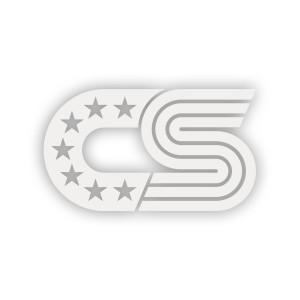 CS White Vinyl Sticker