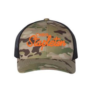 Chris Stapleton Script Camo Trucker Hat