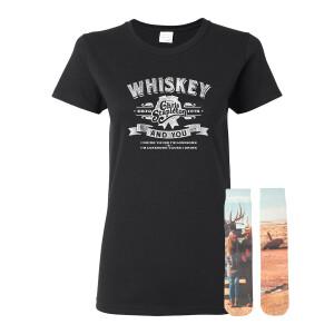 Ladies Whiskey & You Tee + Traveller Socks Bundle