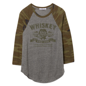 The Whiskey and You Ladies Camo Raglan