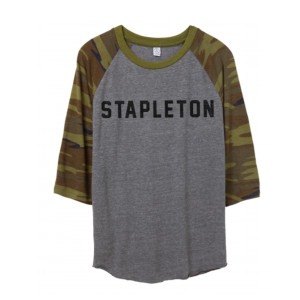 Ladies Camo Sleeve Raglan