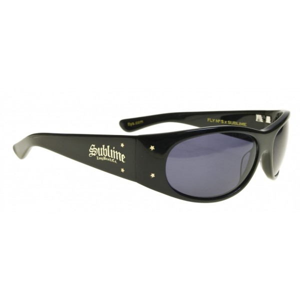 black flys sunglasses knpb  Shiny Black Fly No 5 Sublime Collab
