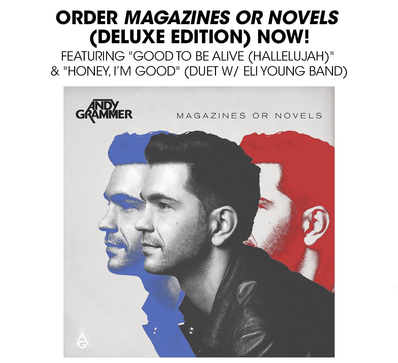 Andy Grammer - Magazines or Novels CD + Signed Poster Bundle