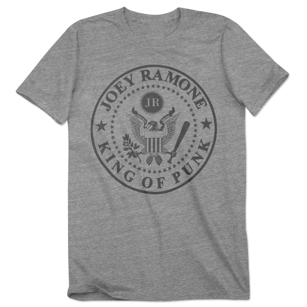JR King of Punk Seal Tee - Grey