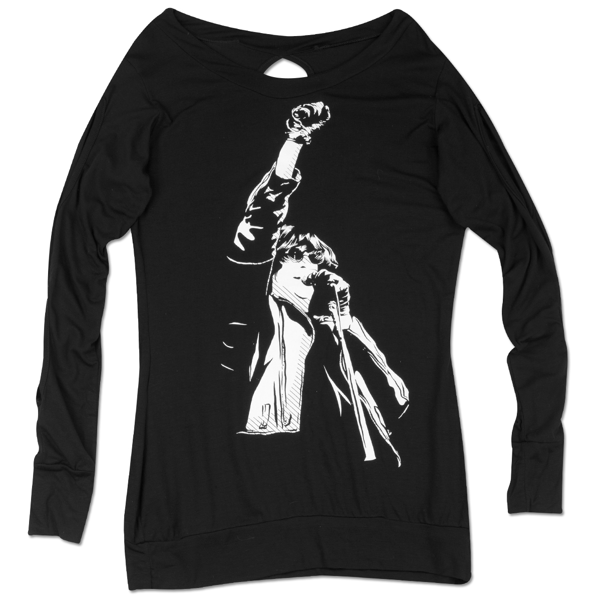 Ladies Black JR Fist L/S Shirt
