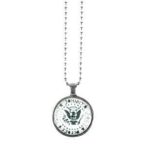 Ramones Silver Bead Necklace