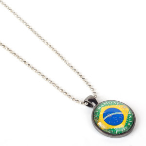 Brazil Flag King Of Punk Necklace